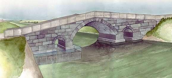 Ipotesi ricostruttiva del ponte sulla via Annia