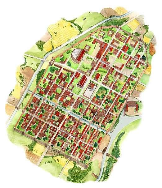 Ipotesi ricostruttiva della colonia Iulia Concordia