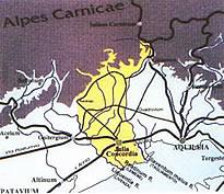 la via Annia, realizzata nel 131 a.C.